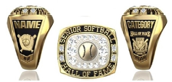 Picture of NSSHOF Women's Ring or Pendant w/Ball & Cubic Zirconias
